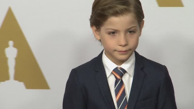 jacob tremblay at 88th annual oscars® nominees luncheon at the beverly hilton hotel on february 08, 2016 in beverly hills, california. - the beverly hilton hotel stock videos & royalty-free footage