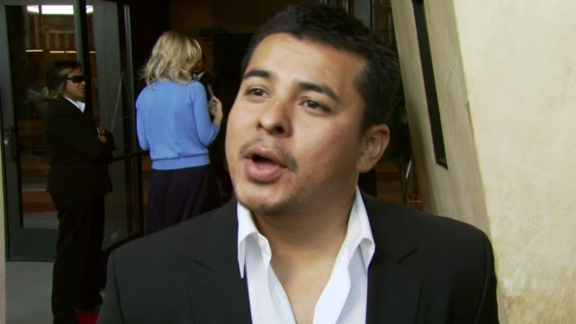 jacob vargas on being involved in the film, being attracted to his role, and working with luke wilson as a director at the 'the wendell baker story'... - director's guild of america stock videos & royalty-free footage
