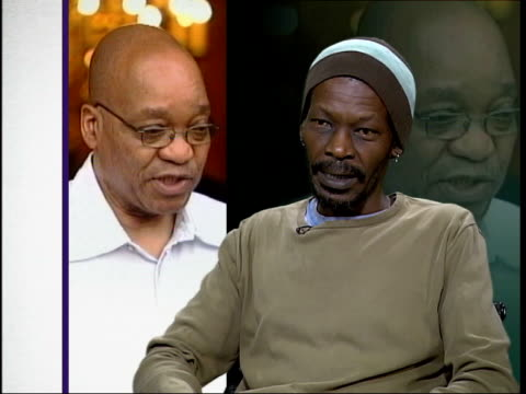 stockvideo's en b-roll-footage met jacob zuma fired from government england london peter makurube interview sot he's been under pressure for long time to get rid of zuma / he would... - harder