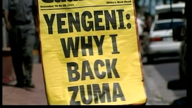 Jacob Zuma voted new President of ruling African National Congress party Sign 'Yengeni why I back Zuma' Vox pop South African Zuma supporter