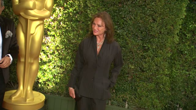 jacqueline bisset at academy of motion picture arts and sciences' governors awards in hollywood ca on - 映画芸術科学協会点の映像素材/bロール