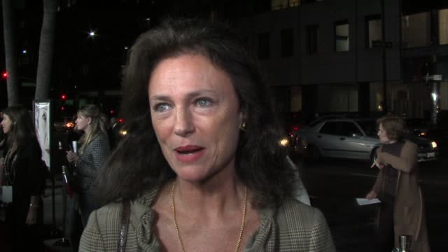 jacqueline bisset on her friendship helen mirren and on mirren's talent at the the queen los angeles premiere at academy of motion picture arts... - academy of motion picture arts and sciences stock-videos und b-roll-filmmaterial