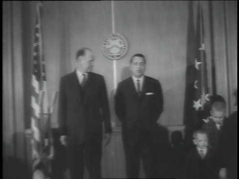 jacqueline kennedy attends a ceremony honoring secret service agent clinton j. hill for bravery. - jacqueline kennedy stock videos and b-roll footage