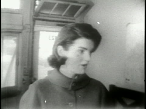 jacqueline kennedy in 1957 as she walks her dog, runs errands, and relaxes at home in georgetown. - 1957 stock videos & royalty-free footage