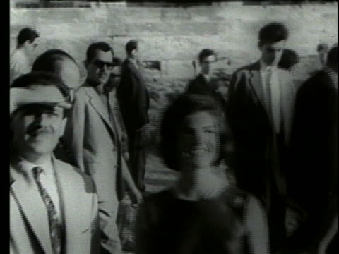 jacqueline kennedy visits the parthenon in greece. - jackie kennedy stock videos & royalty-free footage