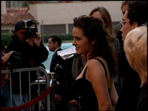 jacqueline obradors at the 'six days seven nights' premiere at academy theater in beverly hills california on june 8 1998 - jacqueline obradors stock videos & royalty-free footage
