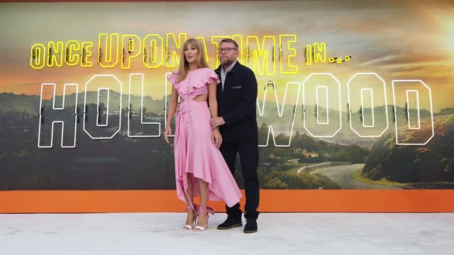 jacqui ainsley and guy ritchie attend 'once upon a time in hollywood' uk premiere at the odeon luxe leicester square on july 30 2019 in london england - luxury stock videos & royalty-free footage