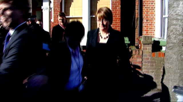 jacqui smith expense claims row; england: london: nunhead: ext jacqui smith mp along through press scrum to waiting car as reporter asks 'how... - submachine gun stock videos & royalty-free footage