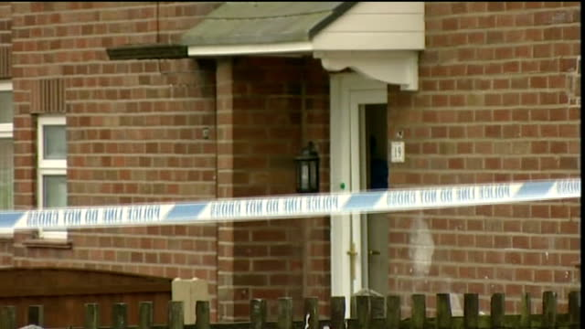 jacqui smith launches domestic violence campaign file october 2008 greater manchester bolton ext police forensic officers outside house where katie... - bolton greater manchester stock videos and b-roll footage