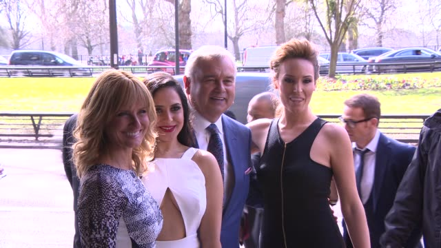 stockvideo's en b-roll-footage met broll jacquie beltrao nazaneen ghaffar eamonn holmes isabel webster at tric awards at grosvenor house on march 10 2015 in london england - eamonn holmes