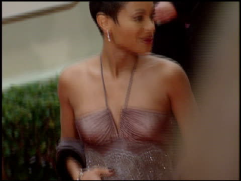 jada pinkett at the 1998 golden globe awards at the beverly hilton in beverly hills, california on january 18, 1998. - golden globe awards stock videos & royalty-free footage