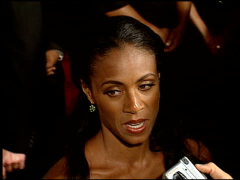 jada pinkett at the 'collateral' premiere at orpheum theatre in los angeles, california on august 2, 2004. - orpheum theatre stock videos & royalty-free footage