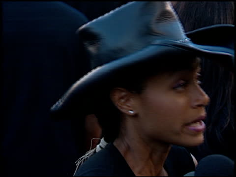 jada pinkett at the 'wild wild west' premiere at the mann village theatre in westwood, california on june 28, 1999. - premiere stock videos & royalty-free footage