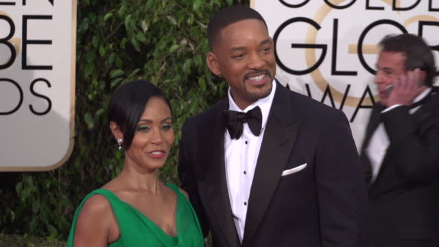 Jada Pinkett Smith and Will Smith at the 73rd Annual Golden Globe Awards Arrivals at The Beverly Hilton Hotel on January 10 2016 in Beverly Hills...