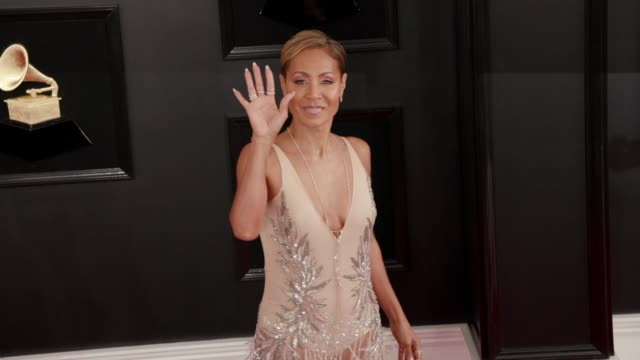 stockvideo's en b-roll-footage met jada pinkett smith at the 61st grammy awards arrivals at staples center on february 10 2019 in los angeles california editorial - grammy awards