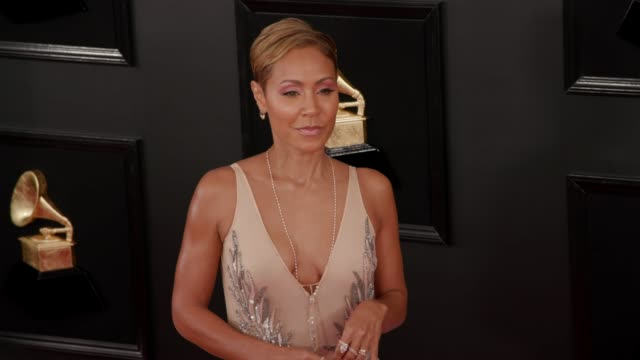 jada pinkett smith at the 61st grammy awards - arrivals at staples center on february 10, 2019 in los angeles, california - editorial use only - jada pinkett smith stock videos & royalty-free footage