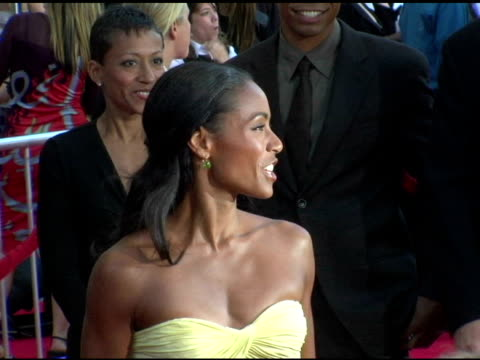 jada pinkett smith at the 'collateral' los angeles premiere at the orpheum theatre in los angeles, california on august 2, 2004. - orpheum theatre stock videos & royalty-free footage