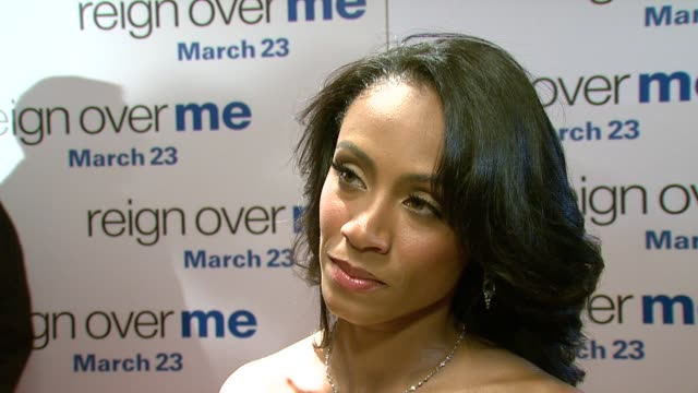 jada pinkett smith, in a vintage dress from decades, on real life motherhood helping her prepare for her role in this film, no knowing what she would... - jada pinkett smith stock videos & royalty-free footage