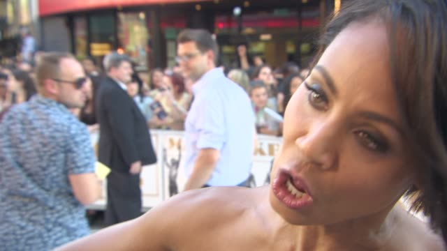 jada pinkett smith on researching the role, her confidence at 'magic mike xxl' european film premiere at vue west end on june 30, 2015 in london,... - jada pinkett smith stock videos & royalty-free footage