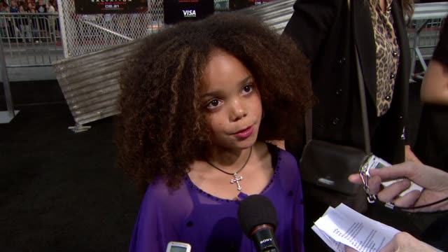 jadagrace on her role. at the 'terminator salvation' premiere at hollywood ca. - terminator stock videos & royalty-free footage
