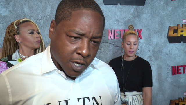 interview –jadakiss on why it's important for us to watch a character like luke cage on screen right now and what it means to him to be contributing... - edison ballroom stock videos & royalty-free footage