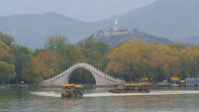 Jade Belt Bridge on Kunming Lake at Summer Palace, Beijing, China