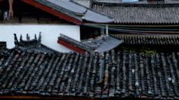 Jade Dragon Snow mountain from Baisha old town(Tilt up)