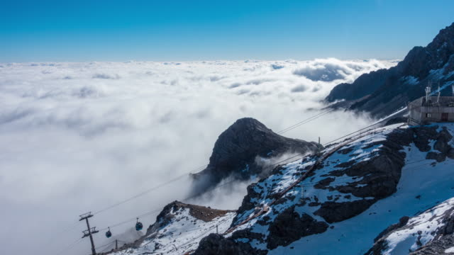 jade dragon snow mountain in yunnan province - yunnan province stock videos and b-roll footage