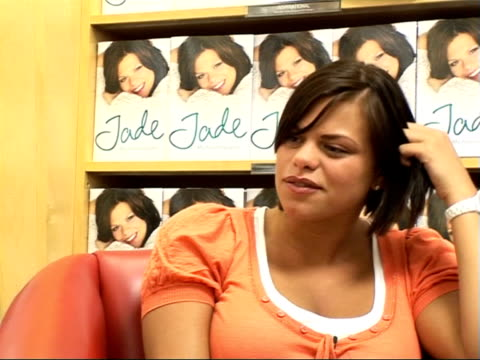 interview / booksigning ENGLAND London INT Jade Goody interviewed SOT Talks about content of the book upbringing truth about love life facts about...