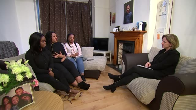 ayoub majdouline convicted for murder england london int leah green moodie interview sot cutaways reporter sat with leah chantel and jamila - jackie long stock videos & royalty-free footage