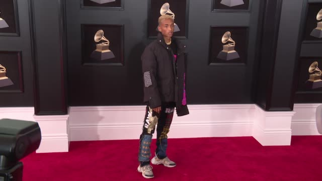 jaden smith at 60th grammy awards celebration party at madison square garden on january 28 2018 in new york city - jaden smith stock videos & royalty-free footage