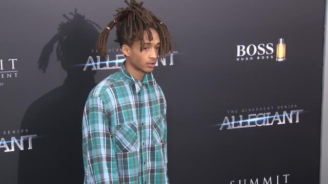 jaden smith at allegiant new york premiere at amc loews lincoln square 13 theater on march 14 2016 in new york city - amc loews stock videos and b-roll footage