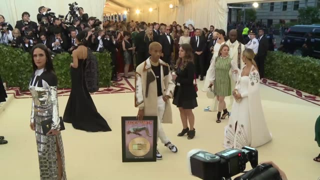 fashion the catholic imagination costume institute gala at the metropolitan museum of art on may 07 2018 in new york city - jaden smith stock videos & royalty-free footage