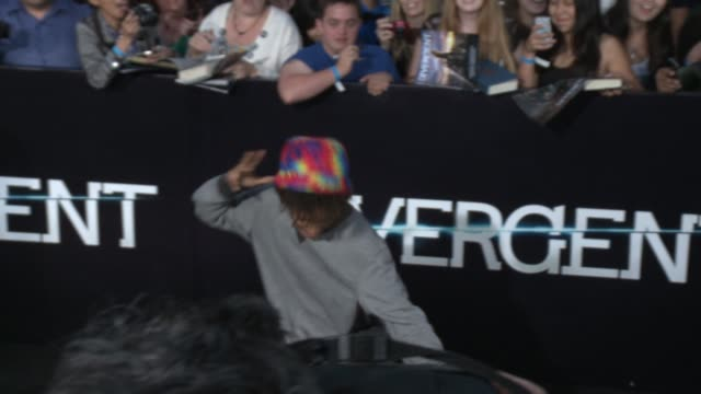 jaden smith at the divergent los angeles premiere at regency bruin theatre on march 18 2014 in los angeles california - regency style stock videos and b-roll footage