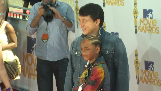Jaden Smith Jackie Chan at the 2010 MTV Movie Awards at Universal City CA