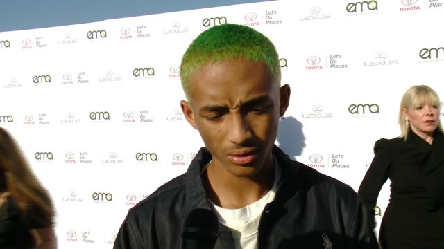 interview jaden smith on how he got involved hosting tonight on why now more than ever it's important to support environment causes on what message... - jaden smith stock videos & royalty-free footage