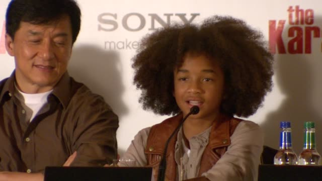jaden smith on how tough it was to do the martial arts and the training he had will says that jaden was so dedicated to getting the film made at the... - jaden smith stock videos & royalty-free footage