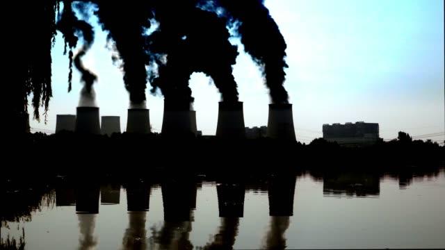jaenschwalde coal power plant in the back lit - brandenburg state stock videos & royalty-free footage