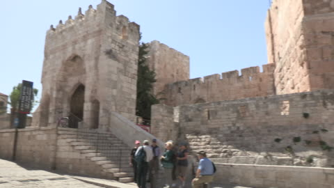 jaffa gate, jerusalem, israel - ジャファ点の映像素材/bロール