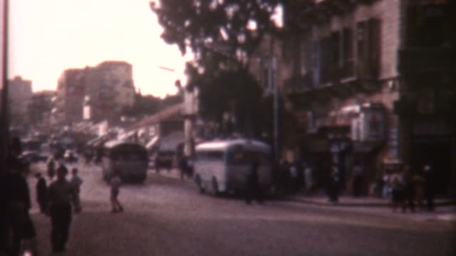 jaffa street 1962 - archives stock videos & royalty-free footage