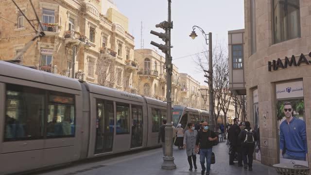jaffa street  jerusalem - old town stock videos & royalty-free footage