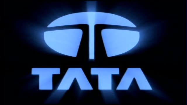 jaguar and land rover to be sold to indian firm; graphicised sequence british companies already owned by indian company tata - land rover stock videos & royalty-free footage
