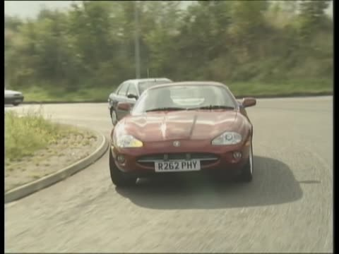 1997 jaguar xk8 - test drive stock videos & royalty-free footage