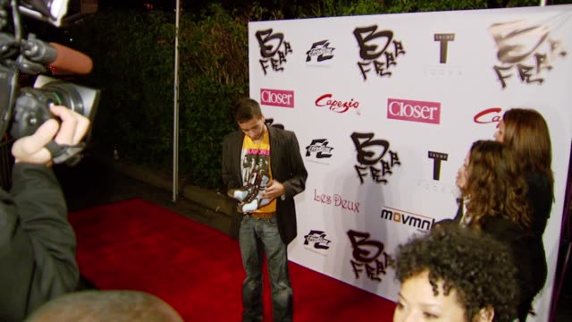 jai rodriguez at the birthday celebration and launch of bfree apparel and footwear collection hosted by frontline capezio at les deux in hollywood... - les deux club stock videos & royalty-free footage