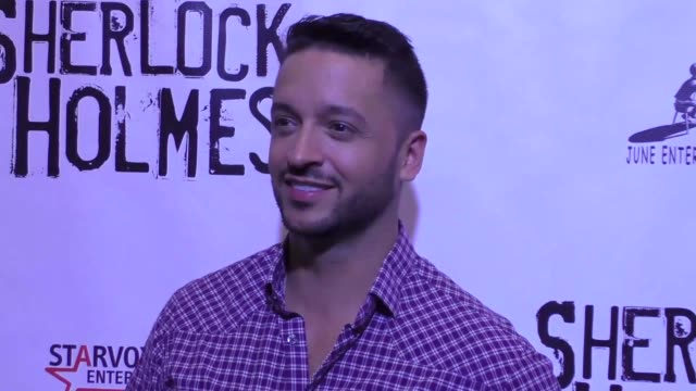 jai rodriguez at the opening night of sir arthur conan doyle's sherlock holmes at the montalban theatre in hollywood celebrity sightings on october... - arthur conan doyle stock videos & royalty-free footage
