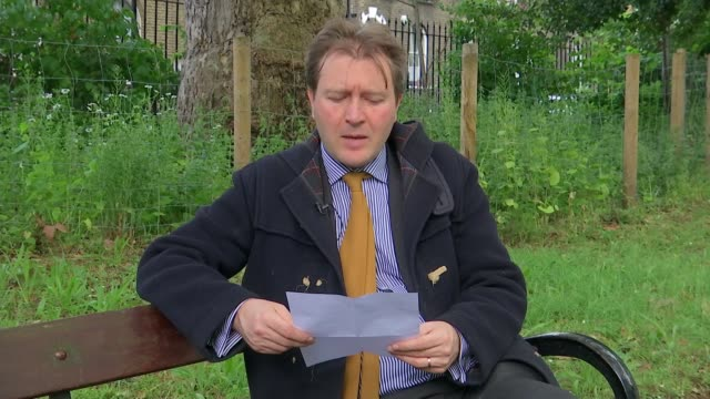 jailed nazanin zaghariratcliffe writes letter to her daughter to mark her 5th birthday england london ext richard ratcliffe reads out 5th birthday... - nazanin zaghari ratcliffe video stock e b–roll