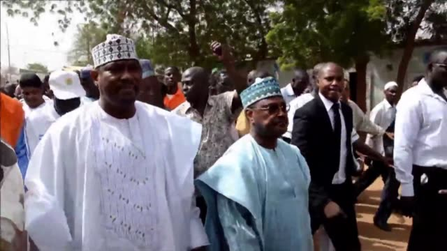 jailed niger opposition leader hama amadou who is due to face off against president mahamadou issoufou in a march 20 election has been transferred to... - mahamadou issoufou stock videos and b-roll footage