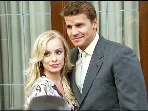 Jaime Bergman and David Boreanaz at the Chrysalis' Fifth Annual Butterfly Ball at Private residence in Bel Air California on June 10 2006