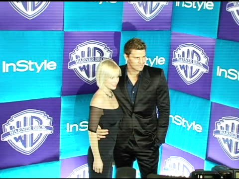 Jaime Bergman and husband David Boreanaz at the In Style Magazine and Warner Brothers Studios 6th Annual Golden Globe Party at the Beverly Hilton in...