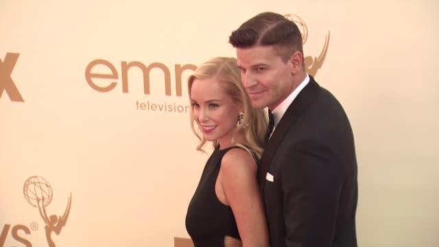 Jaime Bergman David Boreanaz at the 63rd Primetime Emmy Awards Arrivals Part 1 at Los Angeles CA